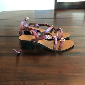 NWT Topshop maroon buckle sandals